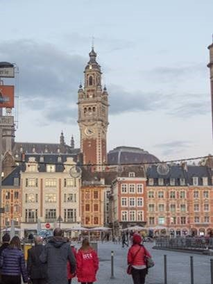 View of Lille city center