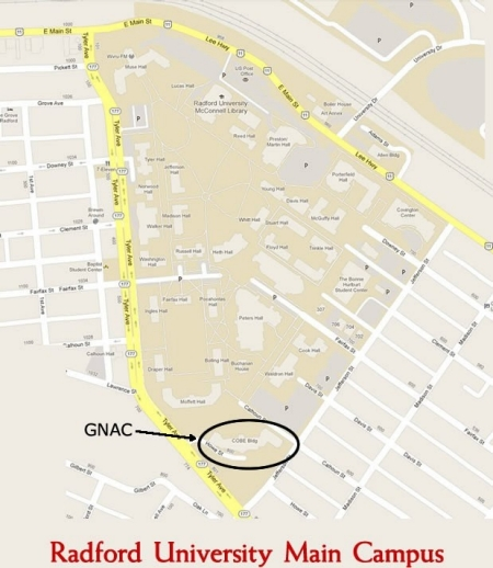 GNAC Location Map