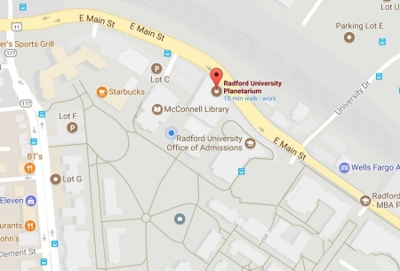 Location and Parking - Radford University