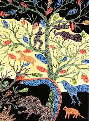 Example of Gond painting