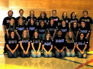 Members of a music student organization at Radford University.