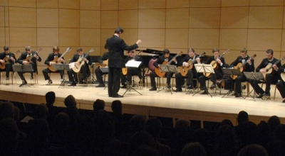 Photo of the guitar ensemble at Radford University.