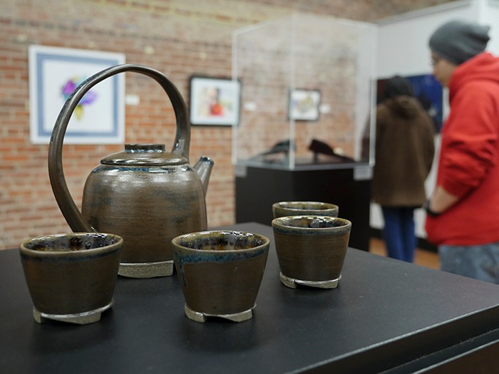 pottery on display at art juried art show