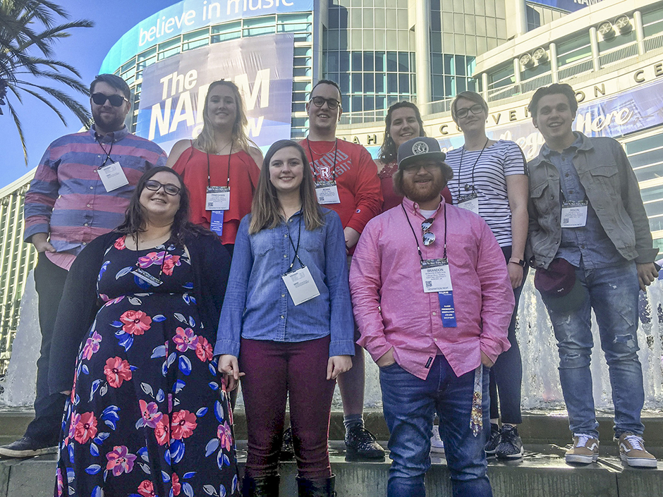 Music Business Students at NAMM Showcase in California
