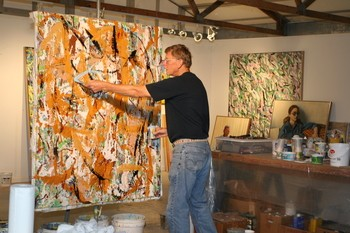 Paul Frets in his studio