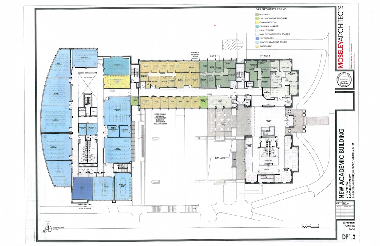 Floor Plans And Renderings New Chbs Building Radford