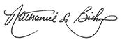 Nathaniel L Bishop signature