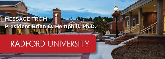 Message from President Brian O. Hemphill
