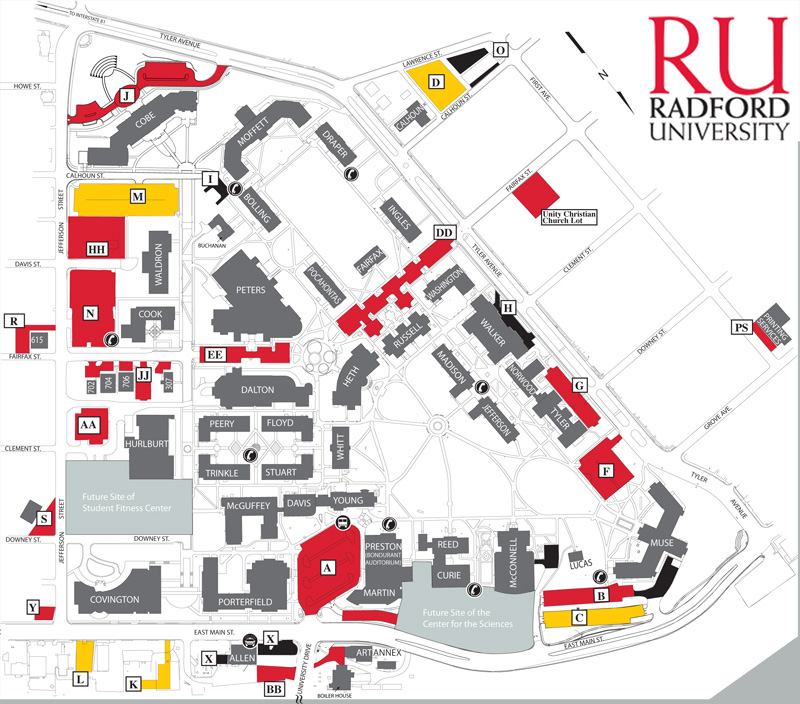 Radford University Campus Map Radford Campus Map. . Map Directions And Collections