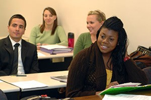Photo of Radford University MSW students attending class