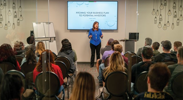 The Venture Lab hosted a Shark Tank event.
