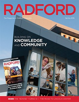 Cover image of the Radford University Magazine