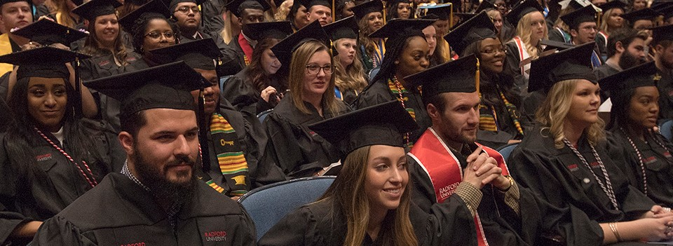 At Radford University's Winter Commencement ceremonies, members of the Class of 2017 anticipate the completion of another important stage of their academic careers.