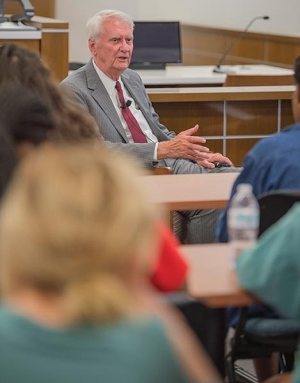 Radford University hosted James P. Jones, a U.S. District Court Judge for the Western District of Virginia, last September.