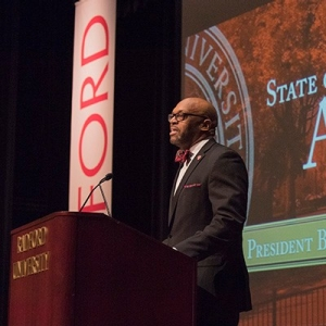 President Hemphill gives the inaugural State of the University Address
