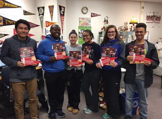 High school students accepted to Radford University