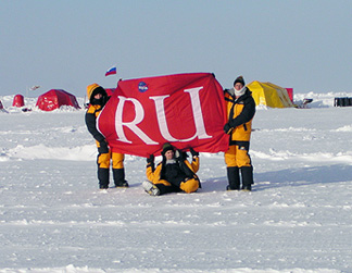 RU Flag at the North Pole