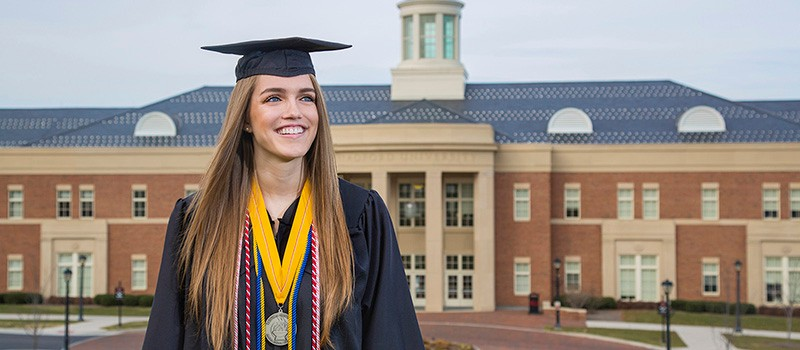 Courtney Ward is a senior marketing major and will be graduating in the upcoming winter commencement