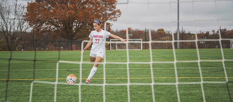 Natacha Rangel-Ribeiro, undergraduate chemistry major and women's soccer player