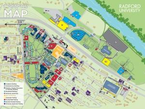 Radford University Campus Map Campus Maps & Directions | Radford University