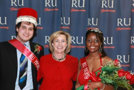 Highlander king and queen with President Kyle