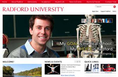 The new radford.edu