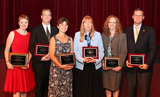Faculty award winners.