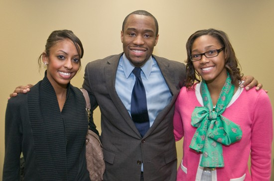 Mark Lamont Hill and RU Students