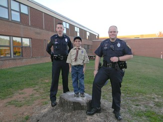 Lane Snow and RUPD officers