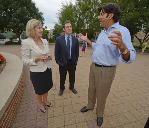 President Kyle with Matt Dunleavy and Aneesh Chopra