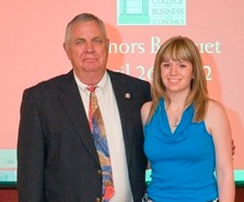 Meghan Stott '12 and Accounting Professor Wayne Saubert