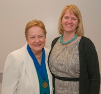 Heidi Dearstyne (right) and Associate Professor of Accounting Helen Roybark