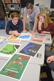 students in graphic design story