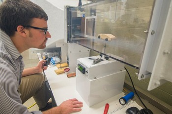 RU student researcher looks to use dimples on car bodies to improve aerodynamic flow