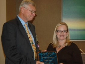 RU's alum Virginia Larsen receives the 2013 VASP School Psychologist of the Year award