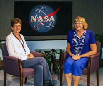 RU Master's Candidates on the set of NASA's Distancel Learning Network