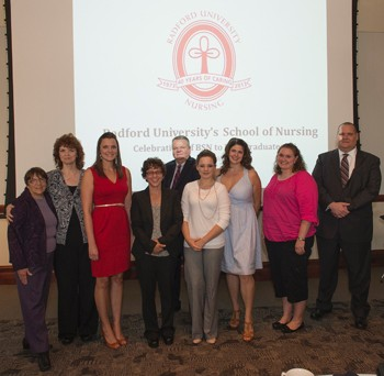 The 2013 RU BSN to DNP class, with guests.