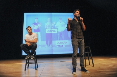 Duncan Penn and Ben Nemtin of The Buried Life speak to RU's incoming freshman