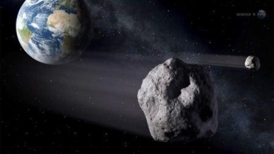 Drawing of asteroid