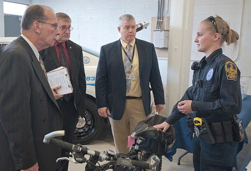 VLEPSC review team inspecting RUPD equipment