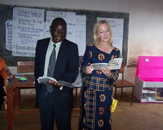 Jennifer Jones with a Malawi Educator