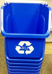 recyclilng bins for campus dorms