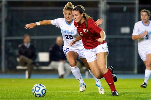 Megan Rhodes in action against UNC.