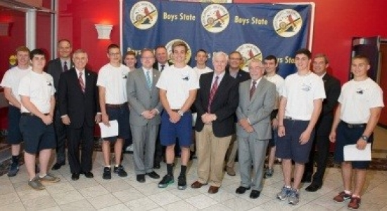 Boys State delegates with Virginia legislators