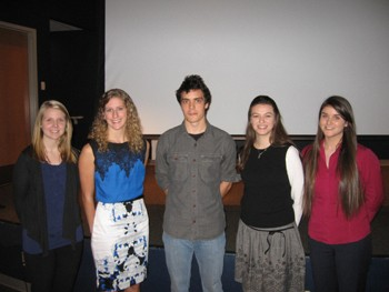 Laken Cooper, Skye Hickling, James Grenier, Sarah Montgomery and Fiona Surrette.