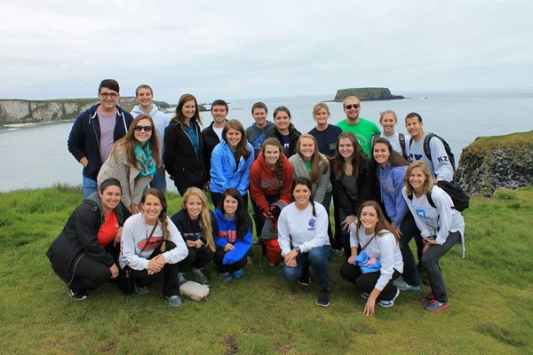 Study Abroad marketing students in Ireland.