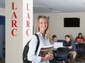 Photo of a student at the LARC