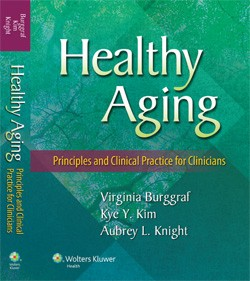 Cover of RU's Virginia Burggraf's soon-to-be-published geriatric nursing textbook
