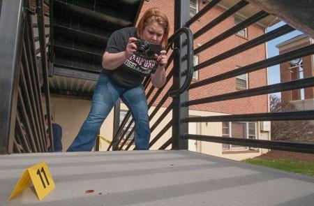 Students Tackle Mock Crime Scene On The Radford University