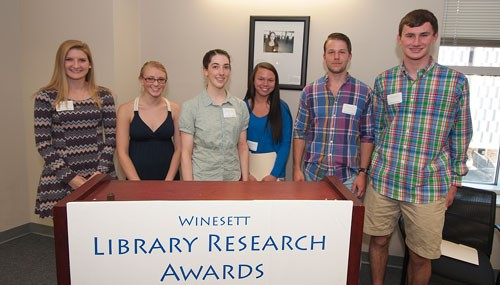 Finalists and winners of the Winesett Award for Library Research Awards